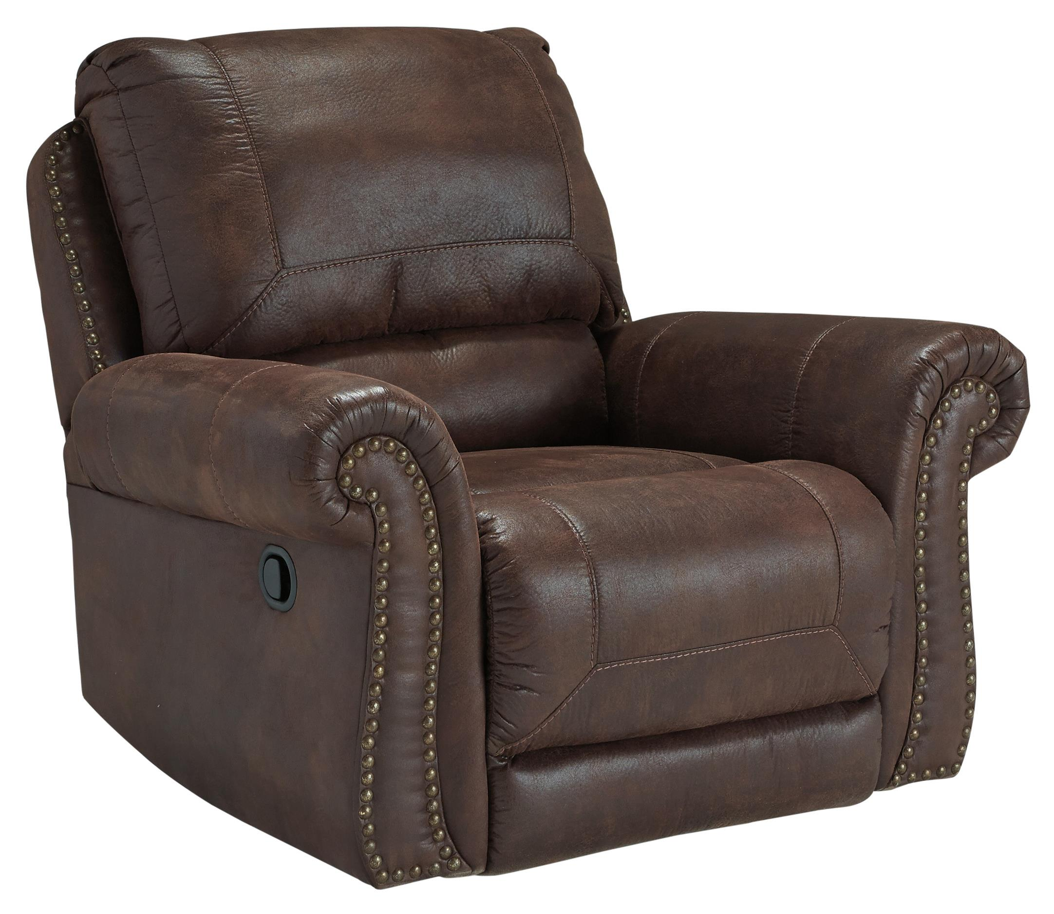 Breville Rocker Recliner by Benchcraft at Furniture Superstore - Rochester, MN