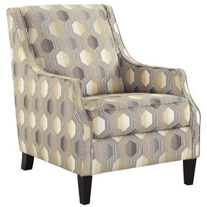 Accent Chair with Geometric Fabric