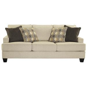 Sofa with Track Arms and T-Style Seat Cushions