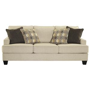 Queen Sofa Sleeper with Memory Foam Mattress and Track Arms