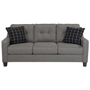 Contemporary Sofa with Track Arms & Tufted Back