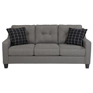 Contemporary Queen Sofa Sleeper with Track Arms & Tufted Back