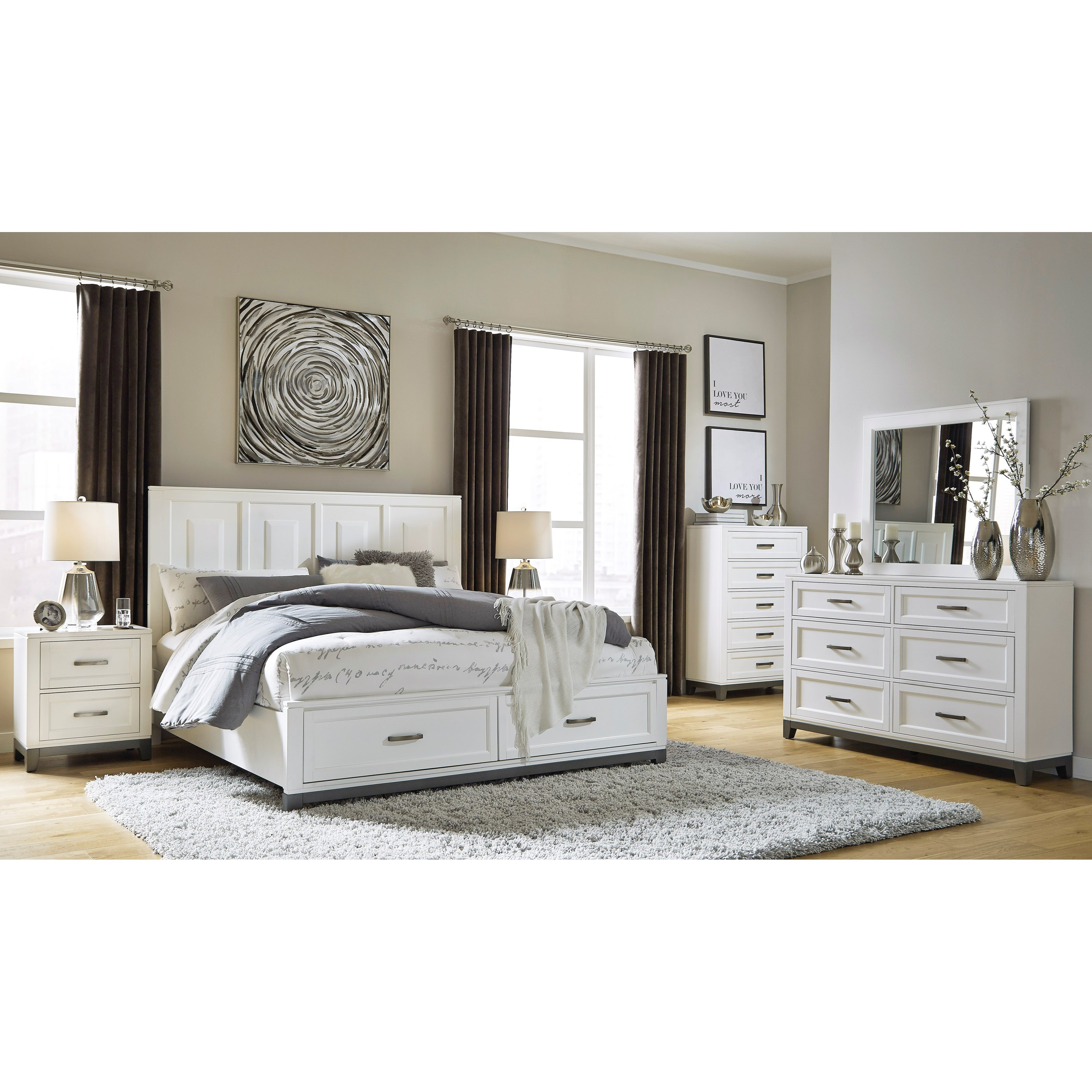 Brynburg Queen Bedroom Group by Benchcraft at Walker's Furniture