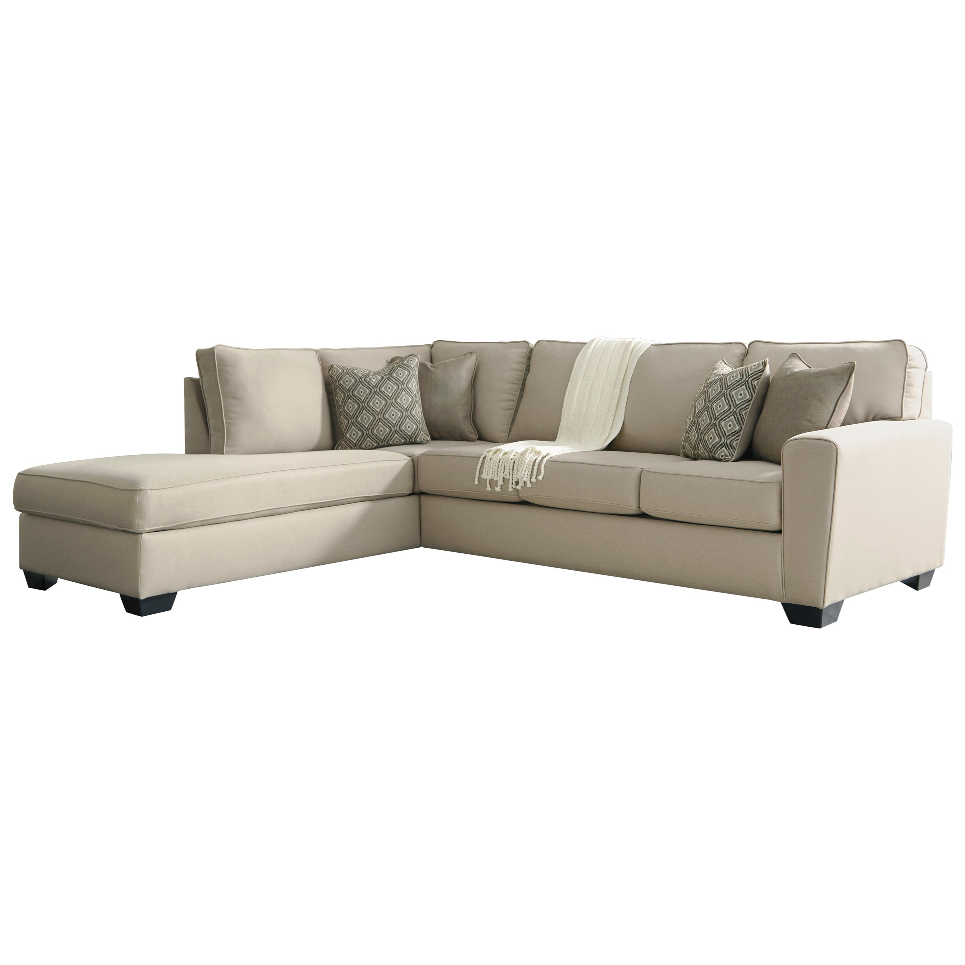Calicho Sectional with Left Chaise by Benchcraft at Johnny Janosik