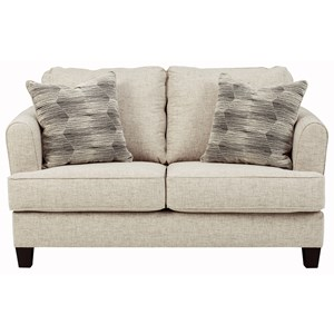 Contemporary Loveseat with Reversible Seat Cushions