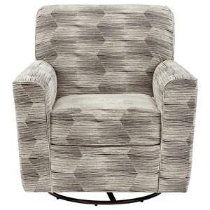 Contemporary Swivel Glider Accent Chair