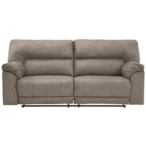 Casual Two-Seat Reclining Power Sofa with USB Port