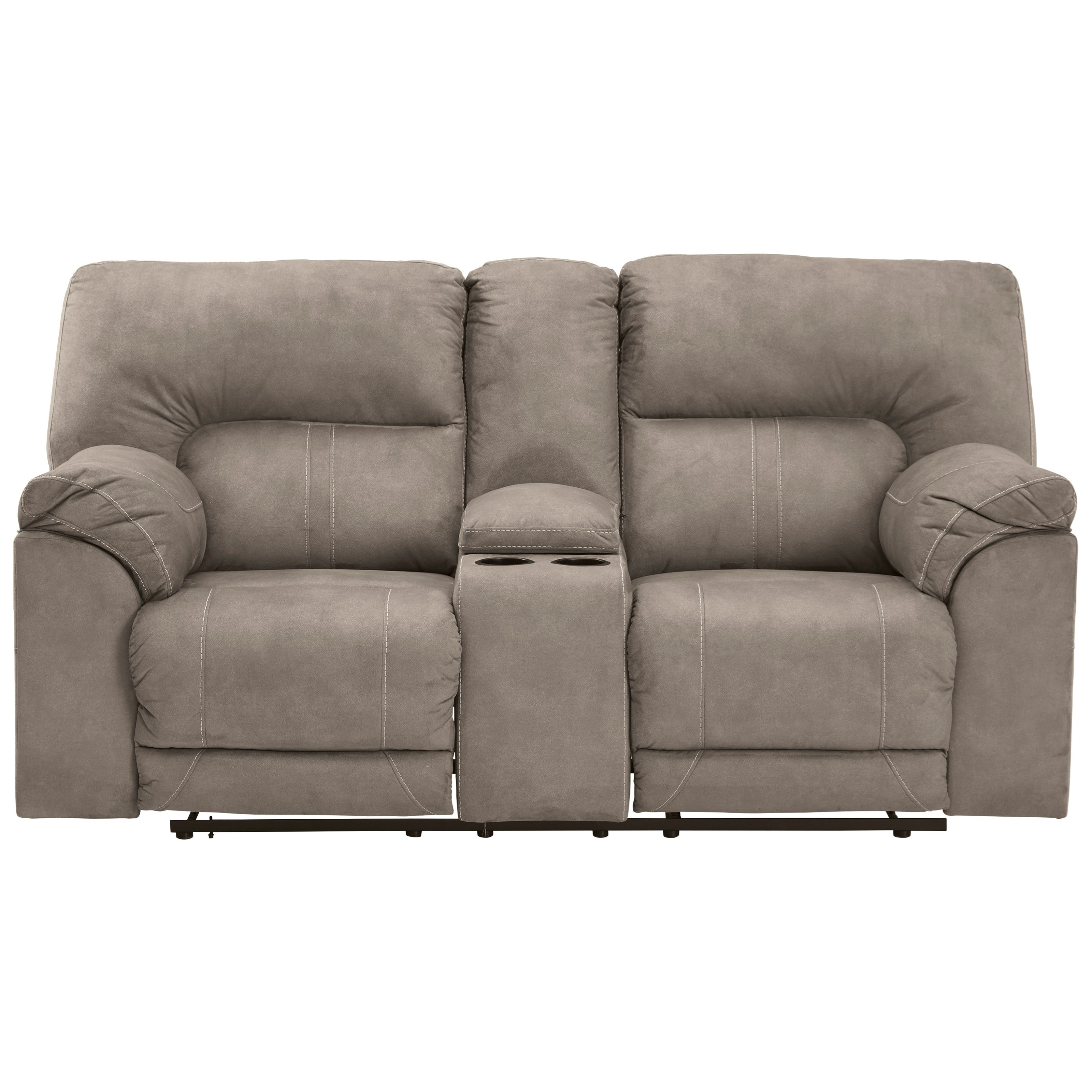 Cavalcade Double Reclining Loveseat with Console by Benchcraft at Zak's Warehouse Clearance Center