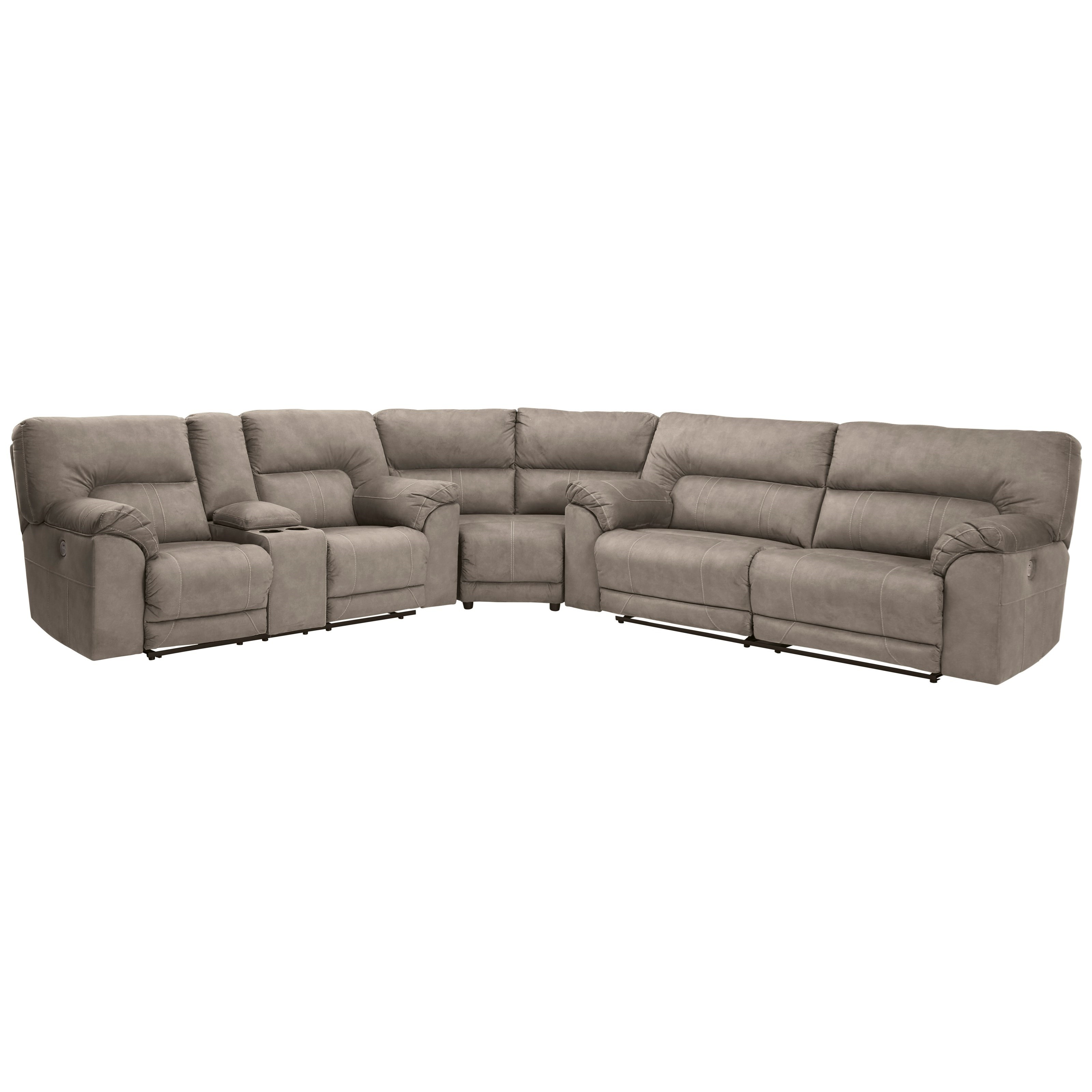 Cavalcade Power Reclining Sectional by Benchcraft at Miller Waldrop Furniture and Decor