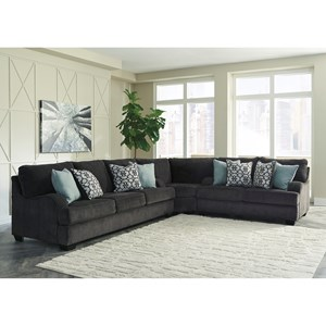 Sectional Sofa with English Arms