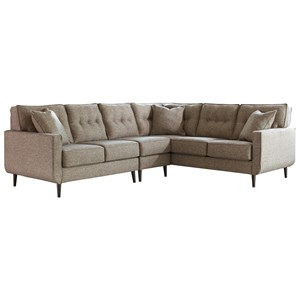 Mid-Century Modern 3-Piece Sectional