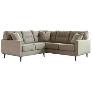 Mid-Century Modern 2-Piece Sectional