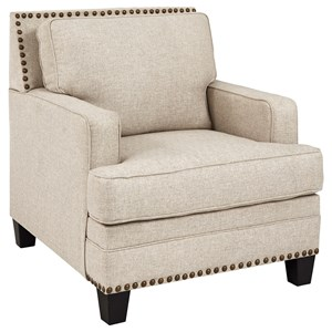 Transitional Chair with Nailhead Trim