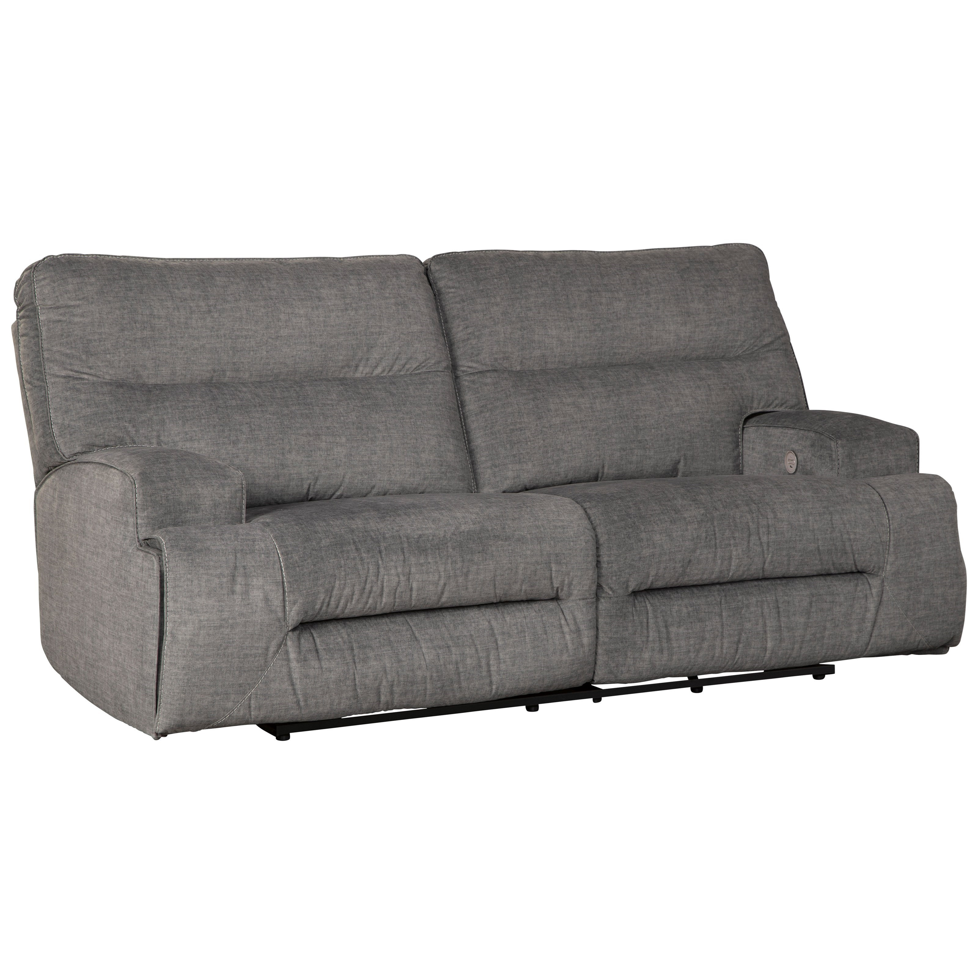 Coombs 2-Seat Reclining Power Sofa by Benchcraft at Miller Waldrop Furniture and Decor