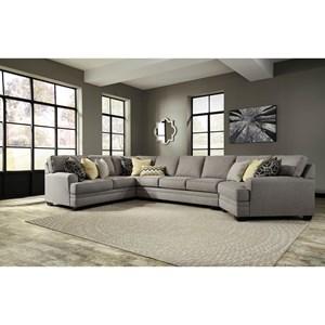 Contemporary 4-Piece Sectional w/ Cuddler & Armless Sofa