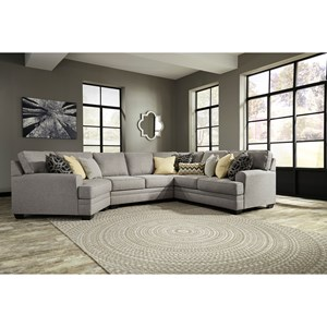 Contemporary 4-Piece Sectional with Cuddler