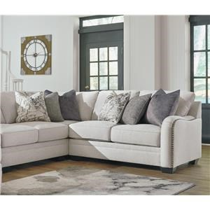 Chalk 4 PC Sectional and Ottoman Set