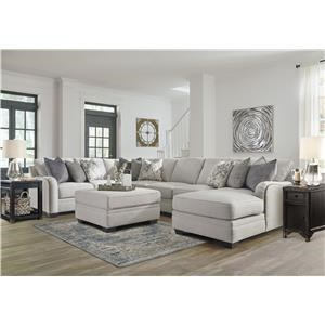 Chalk 5 PC Sectional and Ottman Set