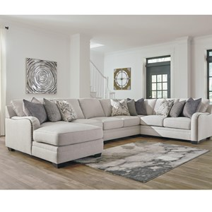 Casual 5-Piece Sectional with Left Chaise