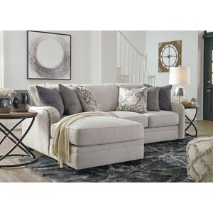Casual 2-Piece Sectional with Left Chaise