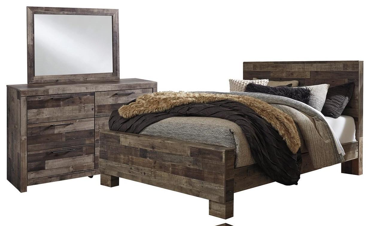 Derekson King Bed, Dresser, and Mirror by Benchcraft at Johnny Janosik