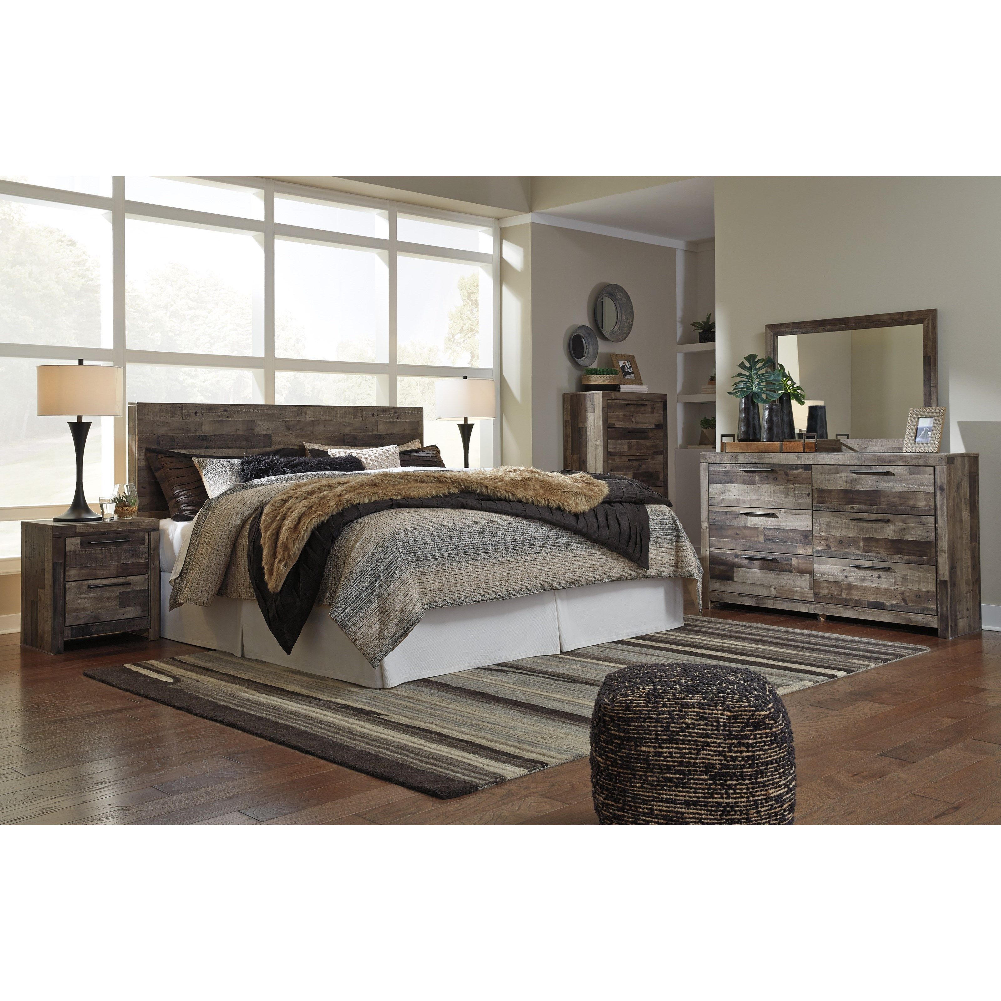 Derekson King Bedroom Group by Benchcraft at Darvin Furniture