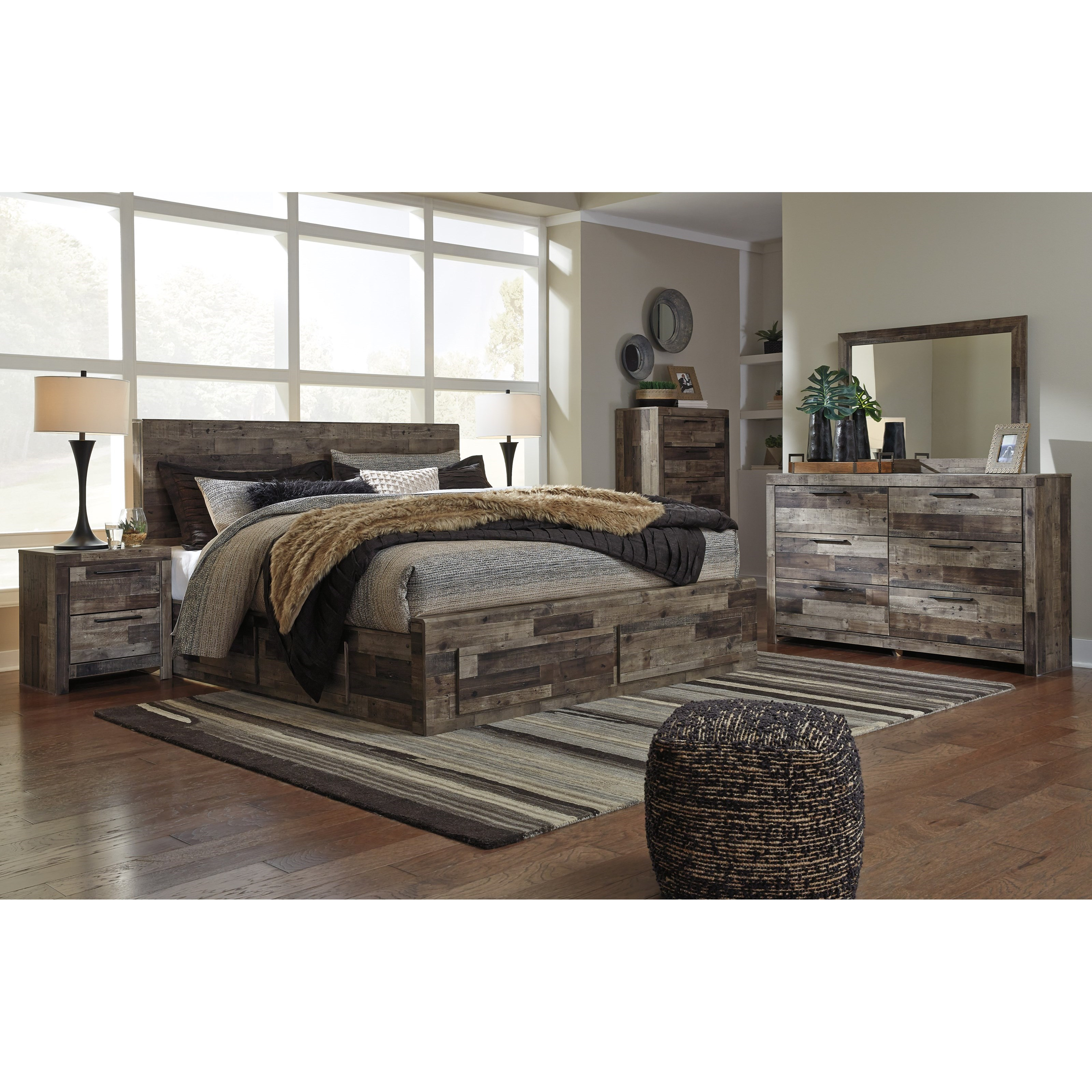 Derekson King Bedroom Group by Benchcraft at Rife's Home Furniture