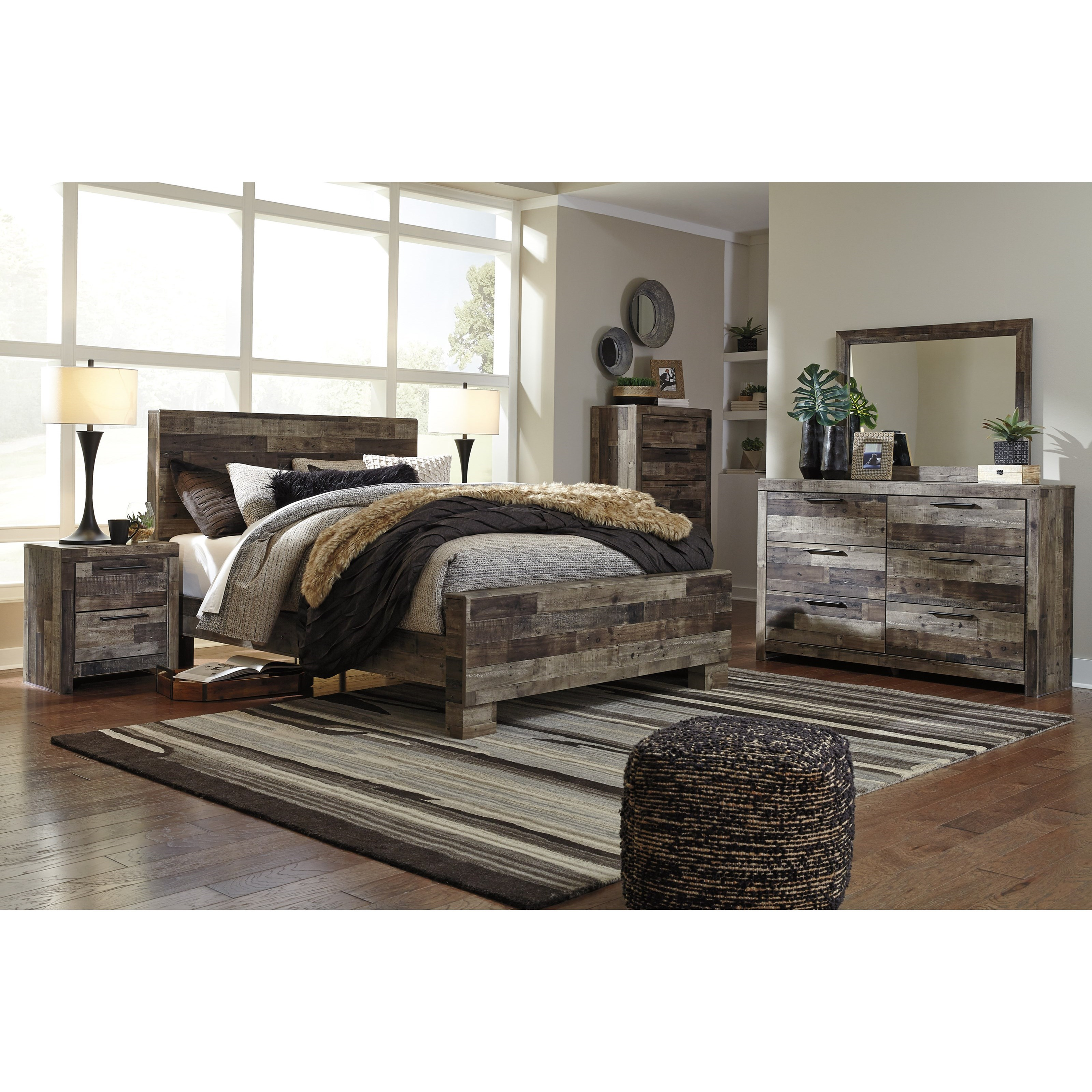 Derekson Queen Bedroom Group by Benchcraft at Darvin Furniture