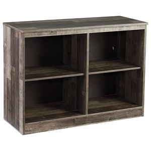 Rustic Small Loft Bookcase with 4 Shelves