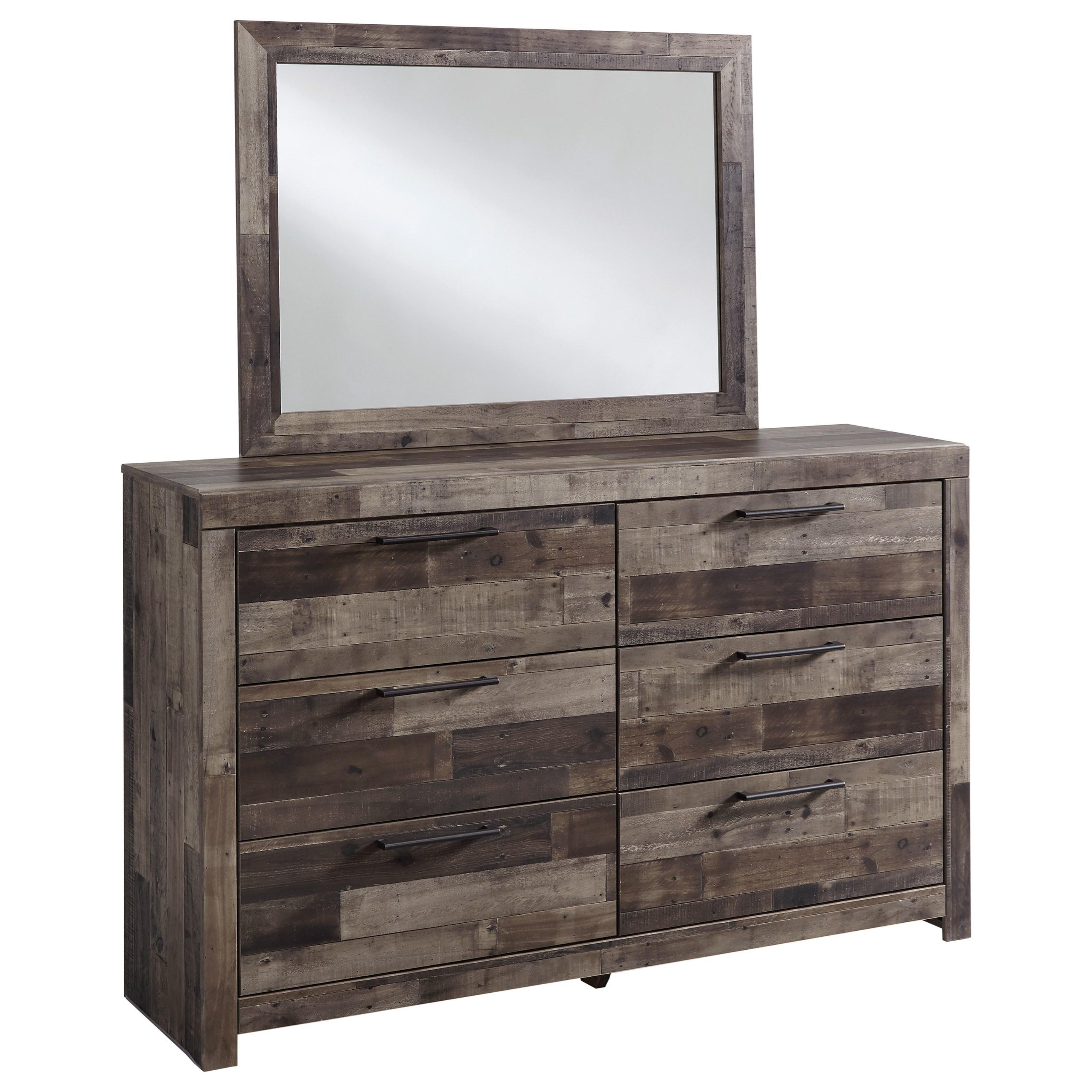 Derekson Dresser & Bedroom Mirror by Benchcraft at Walker's Furniture
