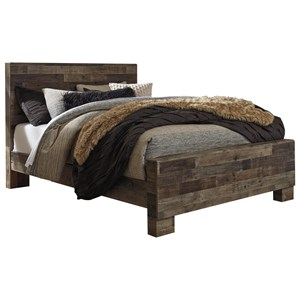Rustic Modern Queen Panel Bed