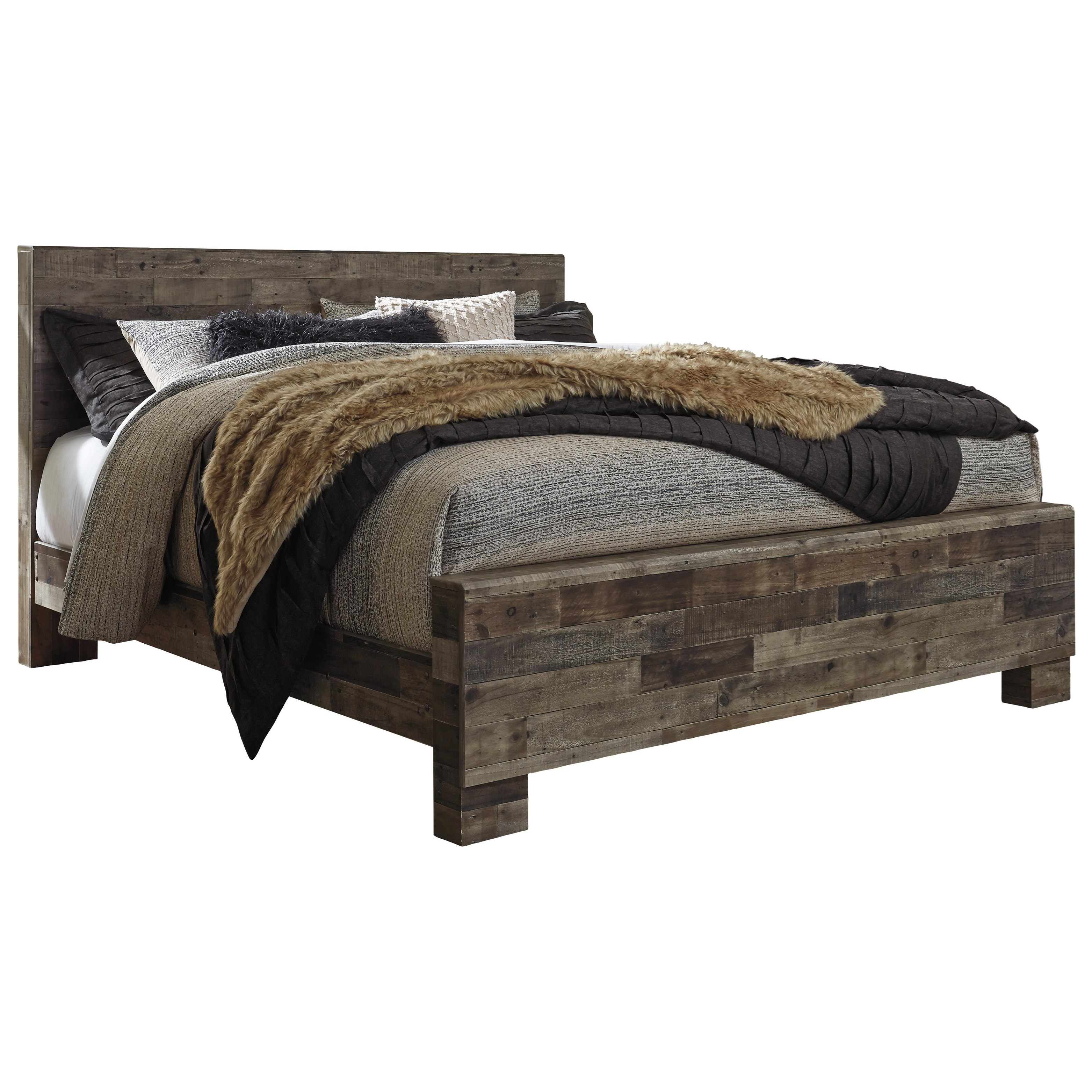 Derekson King Panel Bed by Benchcraft at Northeast Factory Direct