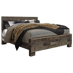 Rustic Modern King Panel Bed