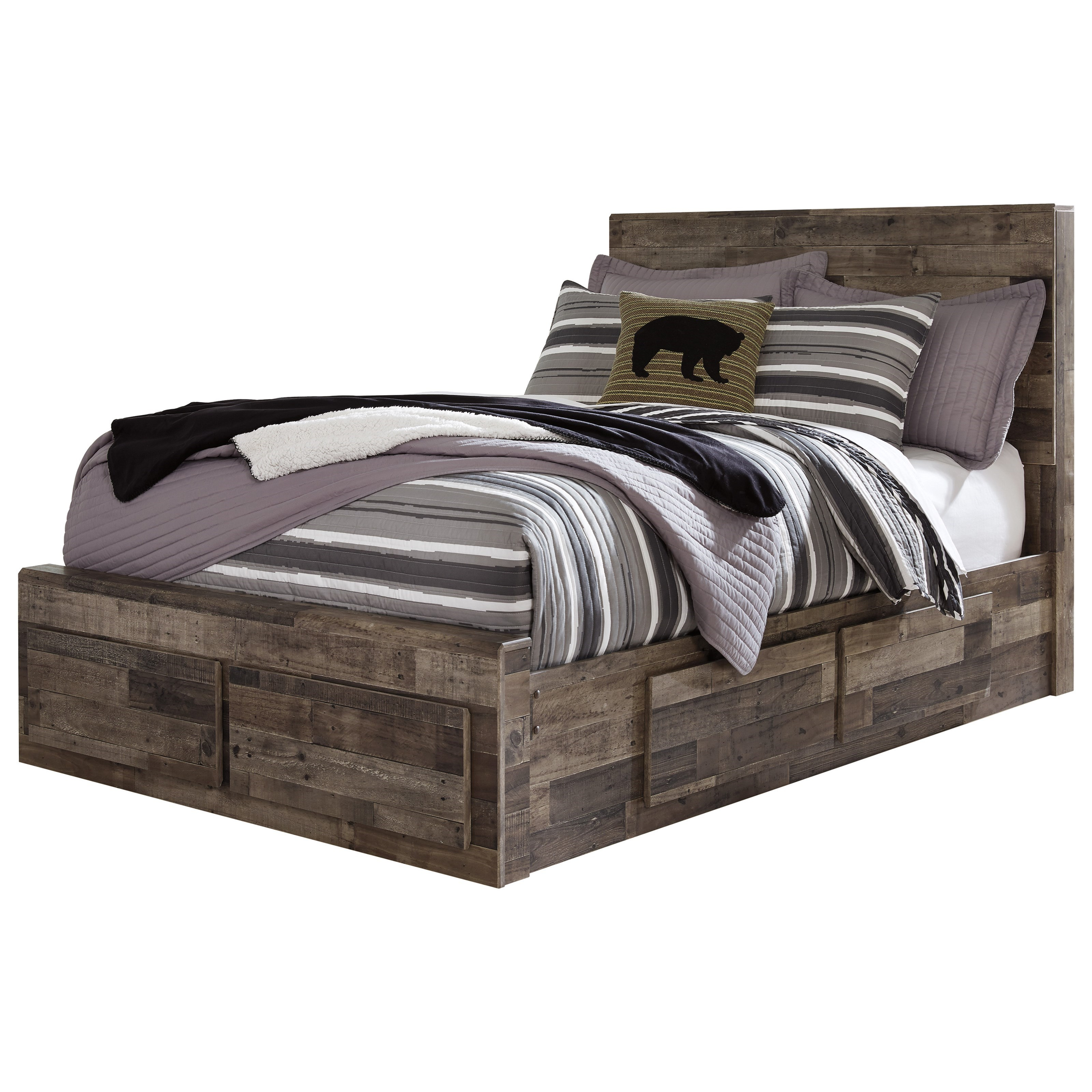 Derekson Full Storage Bed with 6 Drawers by Benchcraft at Walker's Furniture