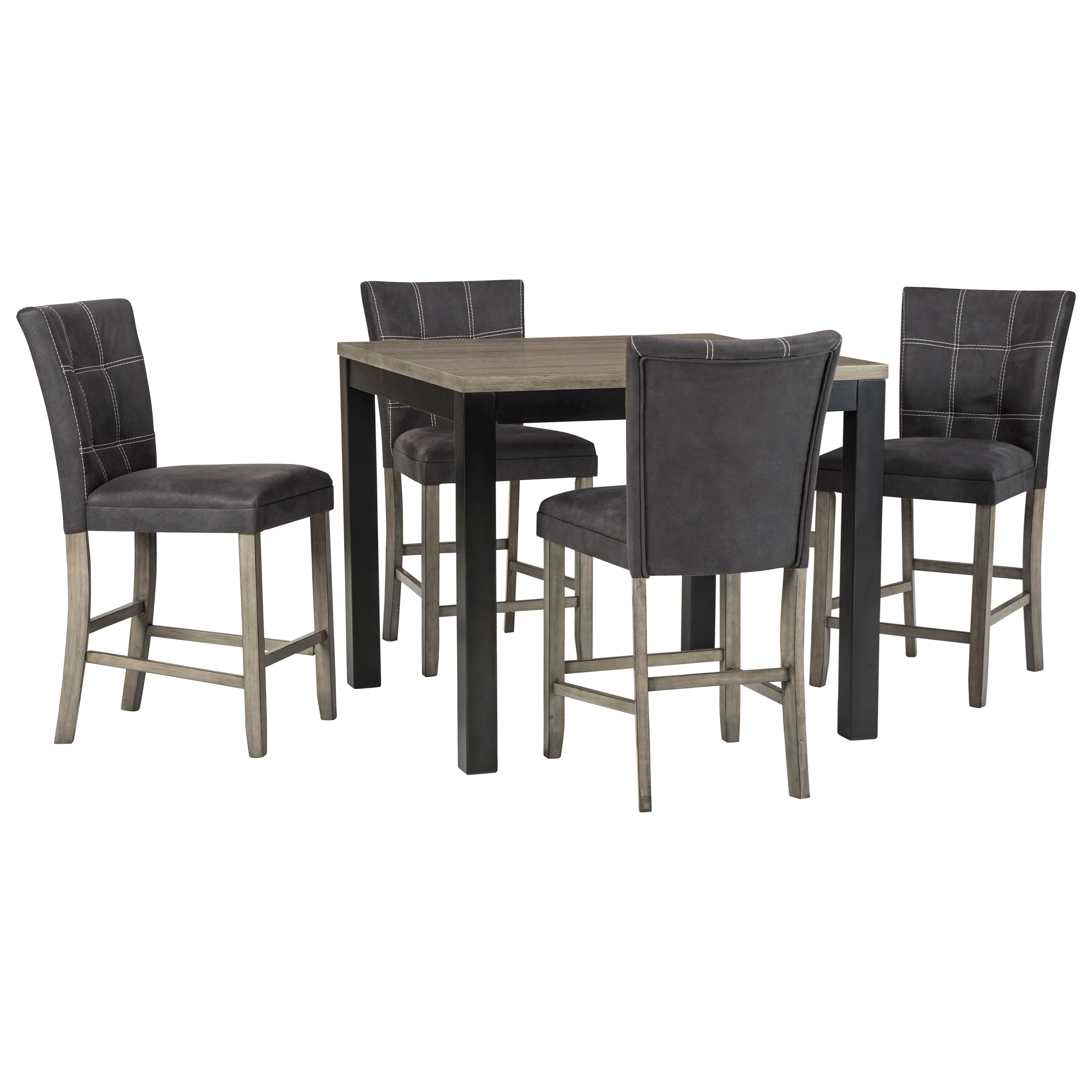 Dontally 5-Piece Counter Table Set by Benchcraft at Prime Brothers Furniture