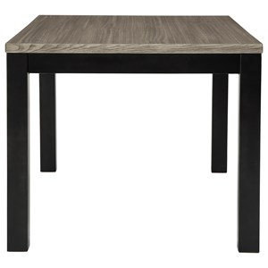 Square Dining Room Counter Table with Melamine Top
