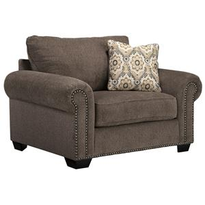 Transitional Chair and a Half with Coil Seating Cushion