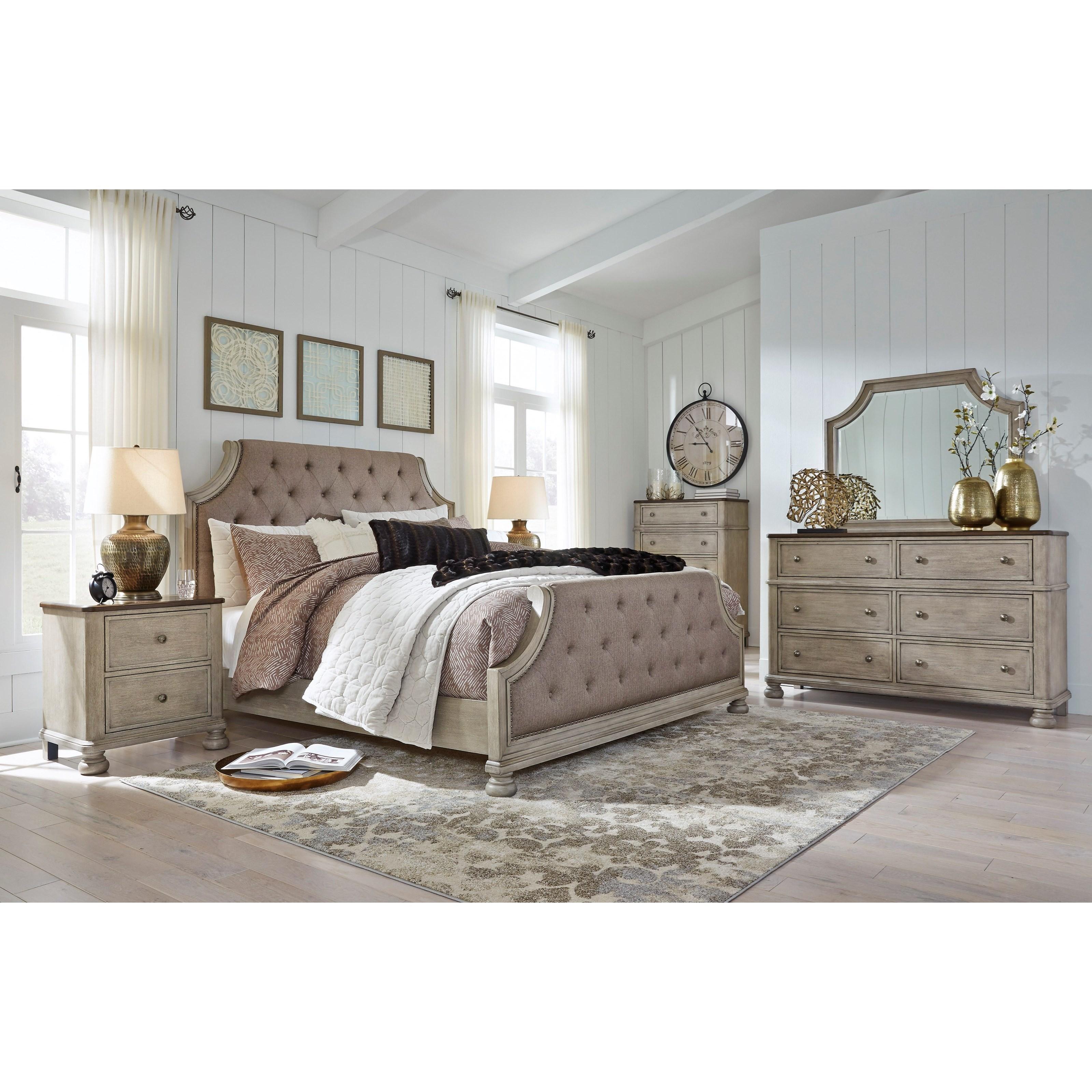 Falkhurst King Bedroom Group by Benchcraft at Walker's Furniture