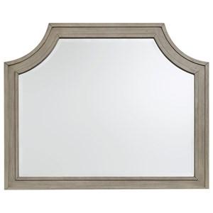 Transitional Gray Finish Bedroom Mirror
