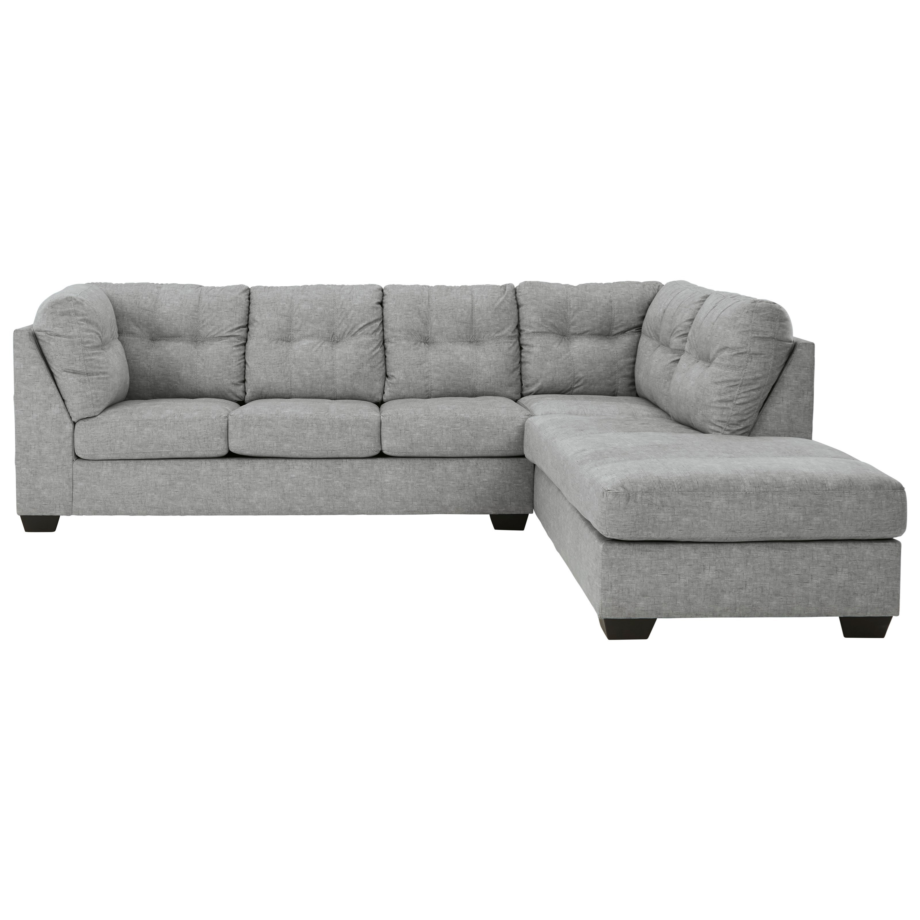 Falkirk 2-Piece Sectional with Chaise & Full Sleeper by Benchcraft at Miller Waldrop Furniture and Decor