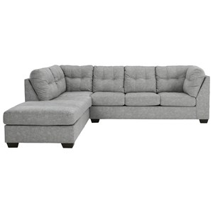 2-Piece Sectional with Chaise & Full Sleeper