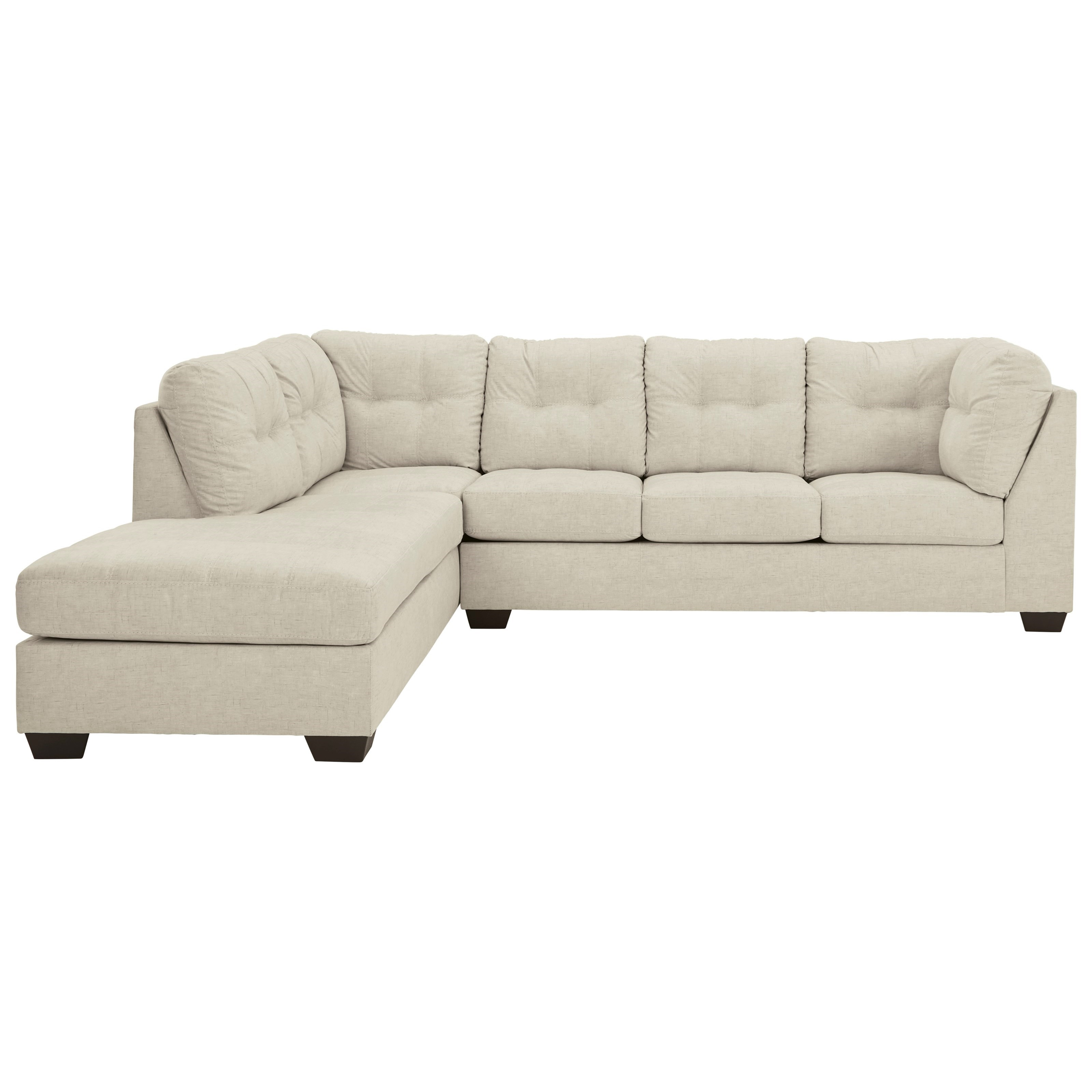 Falkirk 2-Piece Sectional with Chaise & Full Sleeper by Benchcraft at Walker's Furniture