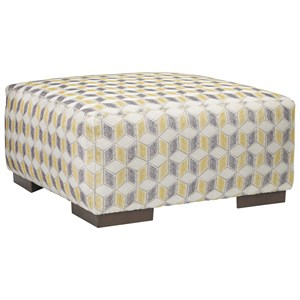 Oversized Geometric Accent Ottoman