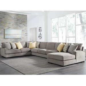 Large Contemporary 4 Piece Sectional