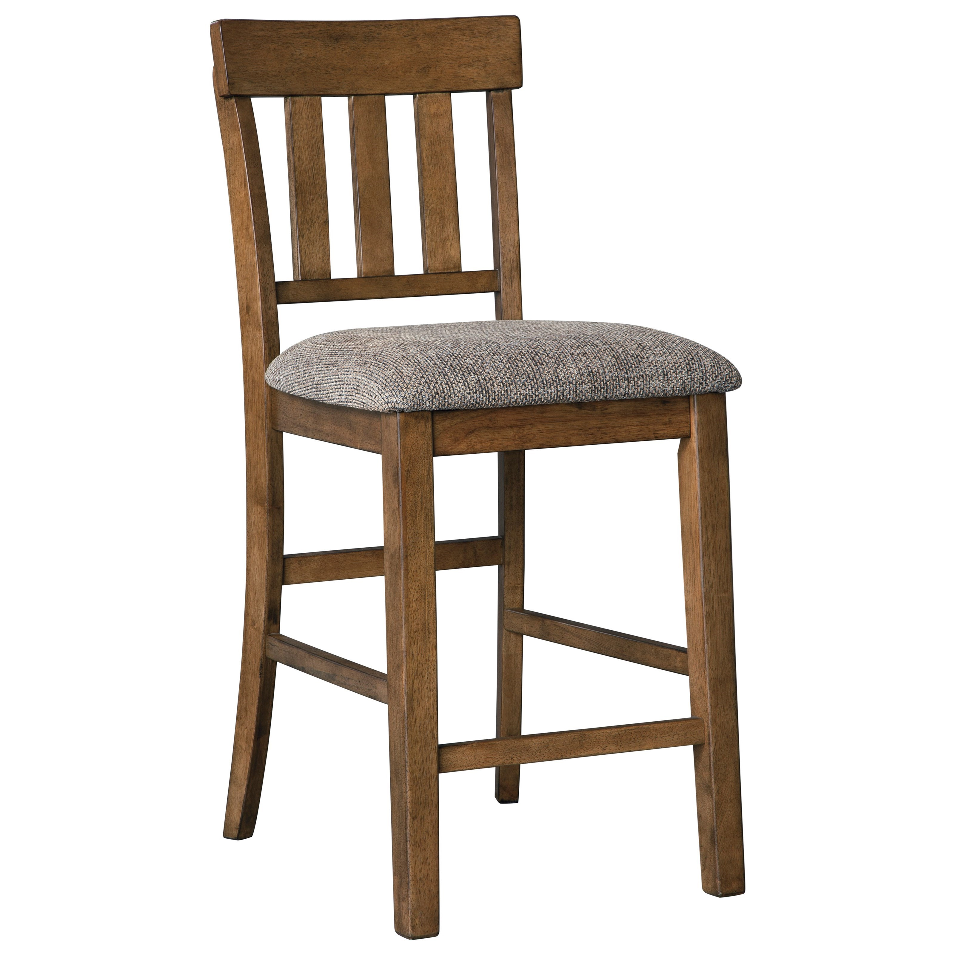 Flaybern Upholstered Barstool by Benchcraft at Johnny Janosik
