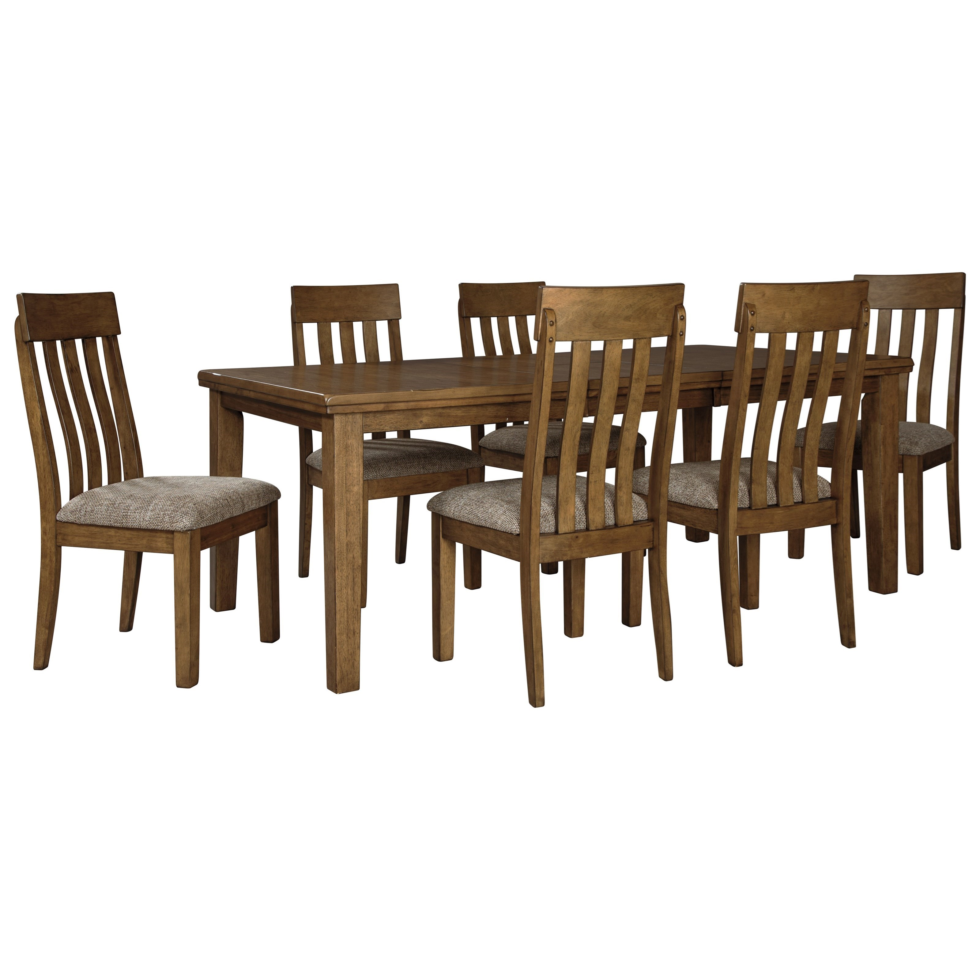 Flaybern 7-Piece Table and Chair Set by Benchcraft at Walker's Furniture