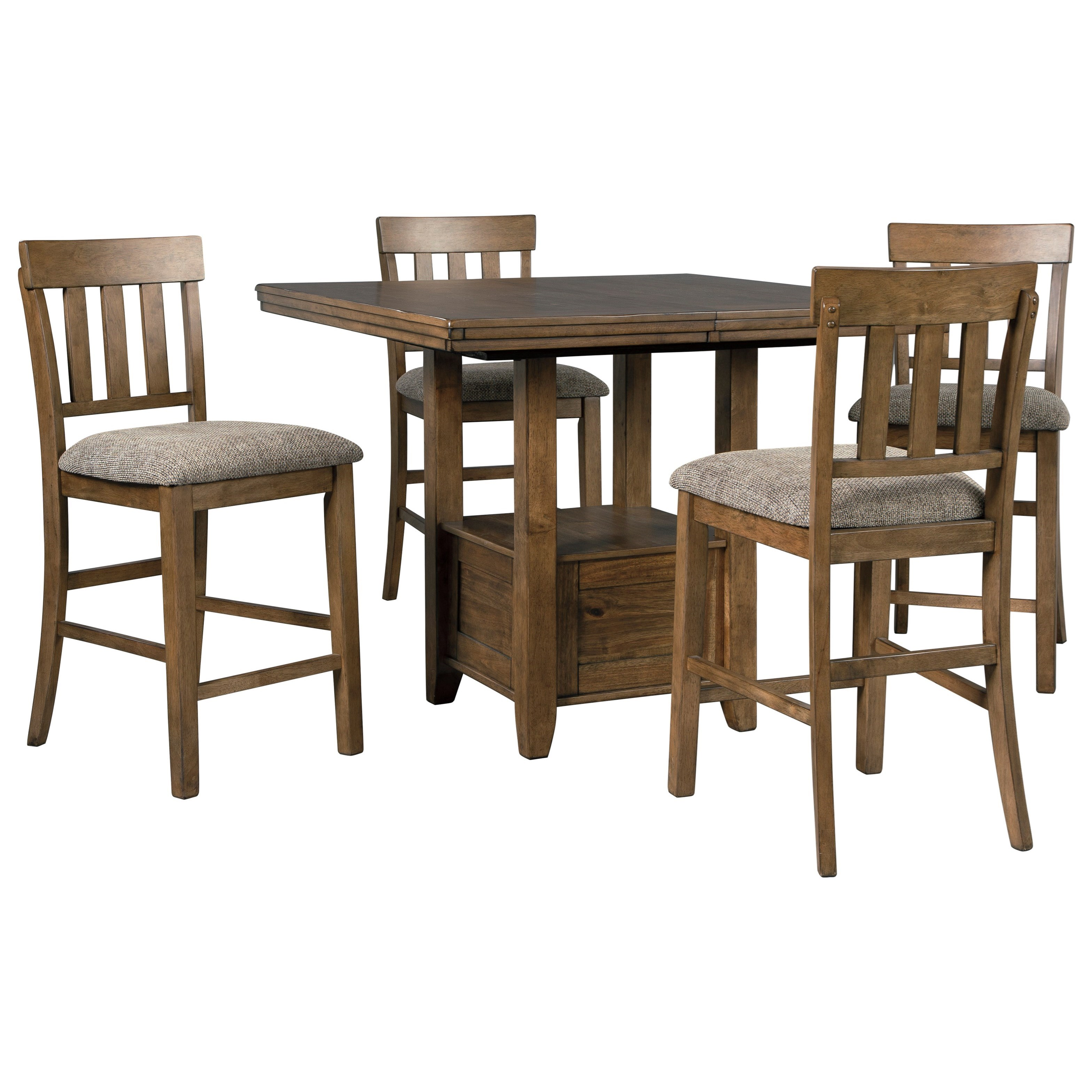 Flaybern 5-Piece Counter Table Set by Benchcraft at Walker's Furniture