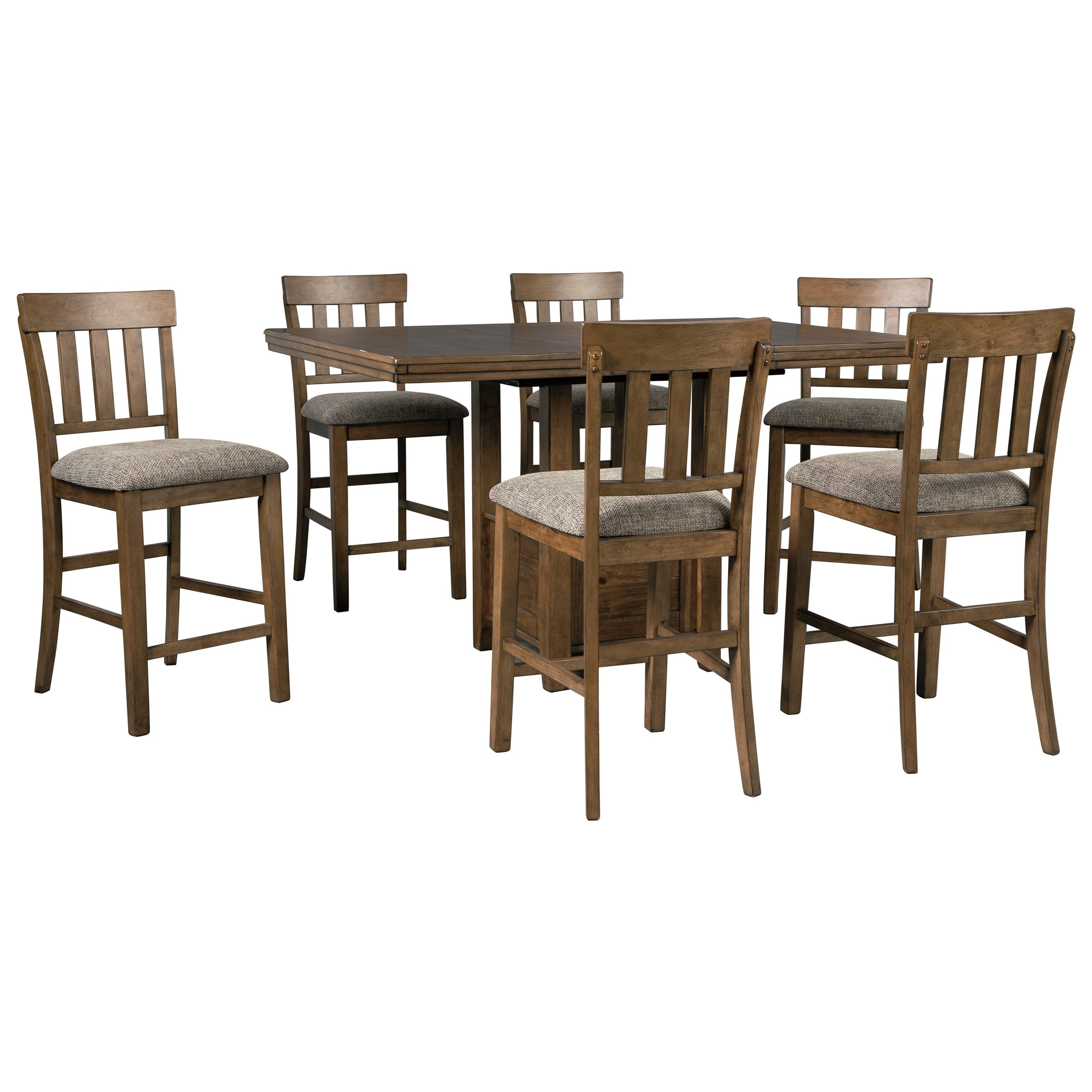Flaybern 7-Piece Counter Table Set by Benchcraft at Northeast Factory Direct