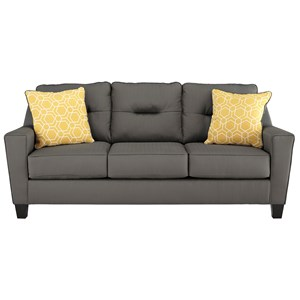 Contemporary Queen Sofa Sleeper in Performance Fabric