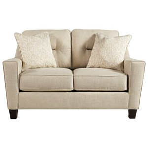 Contemporary Loveseat in Performance Fabric